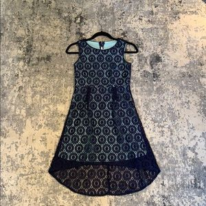 Lace blue dress